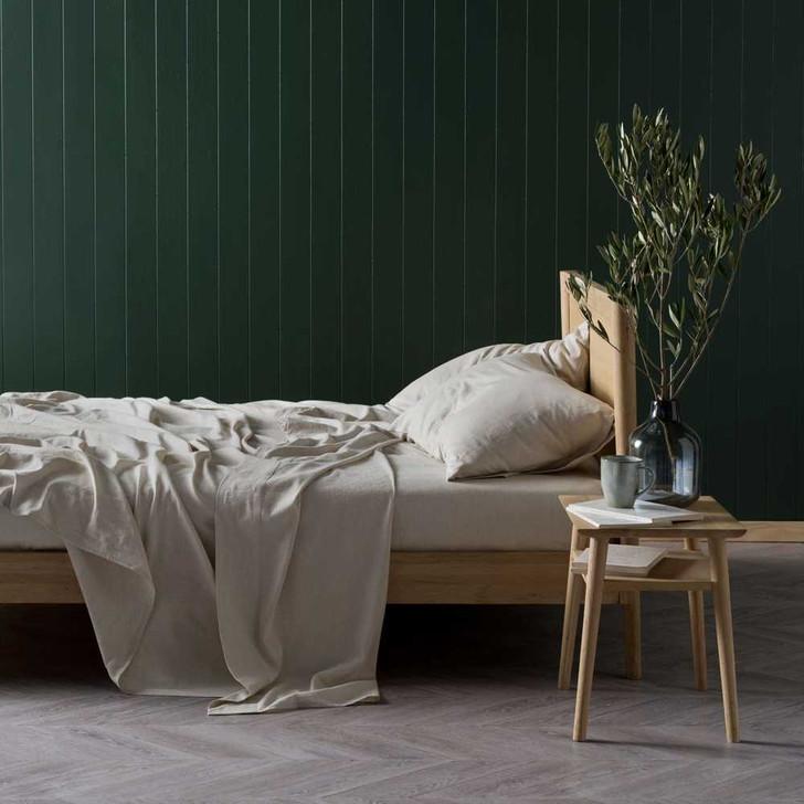 Linen House Nimes Natural Sheet Set Queen Bed 50cm | My Linen