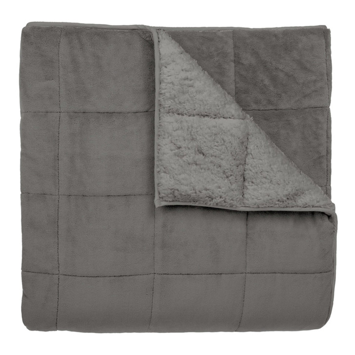 Ardor Silver Sherpa Weighted Blanket 7kg Single Bed | My Linen