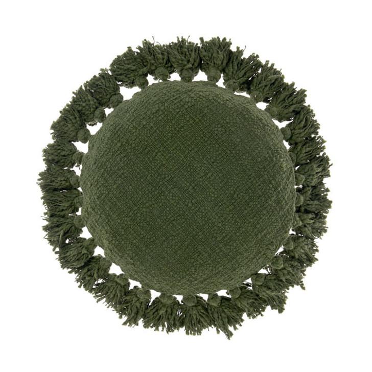Linen House Florida Fern Round Filled Cushion | My Linen