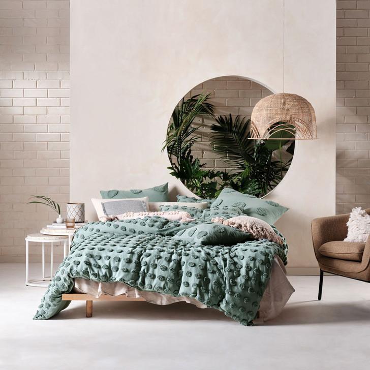Linen House Haze Surf Queen Bed Quilt Cover Set | My Linen