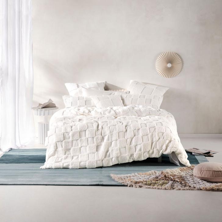 Linen House Memphis White Double Bed Quilt Cover Set | My Linen