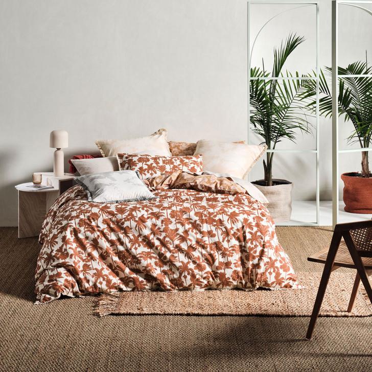 Linen House Tourelles Paprika Super King Quilt Cover Set   My Linen