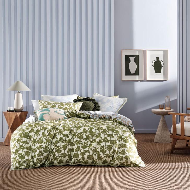 Linen House Tourelles Leaf Double Bed Quilt Cover Set   My Linen
