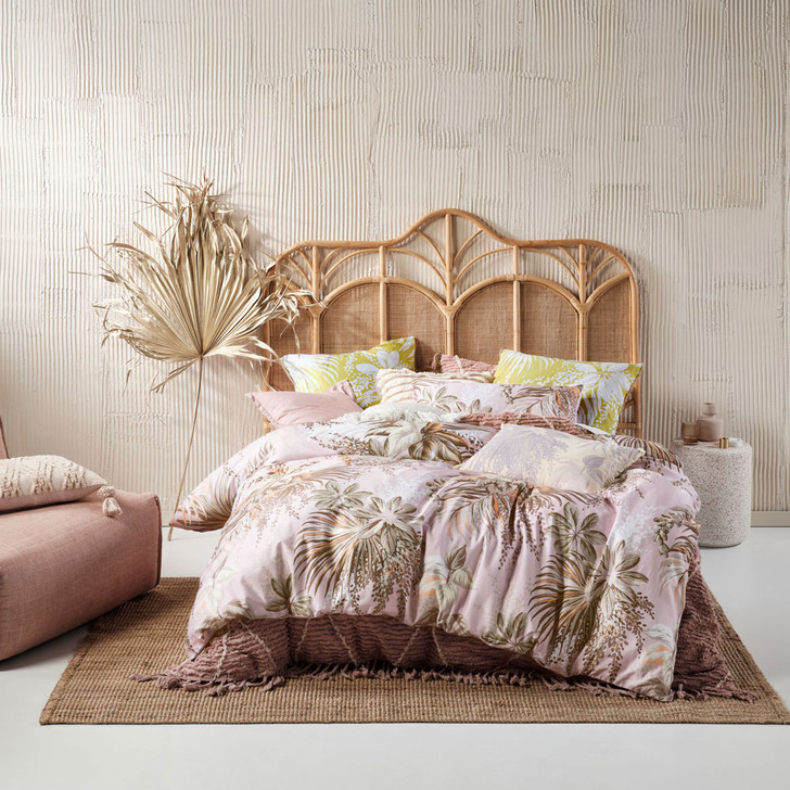 Linen House Harlow Pink King Bed Quilt Cover Set | My Linen