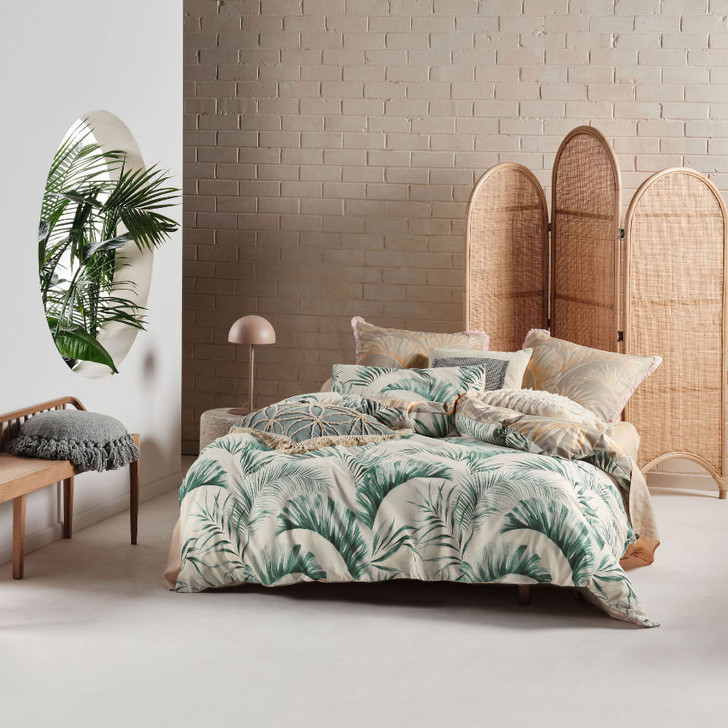 Linen House Kalani Surf Super King Quilt Cover Set | My Linen