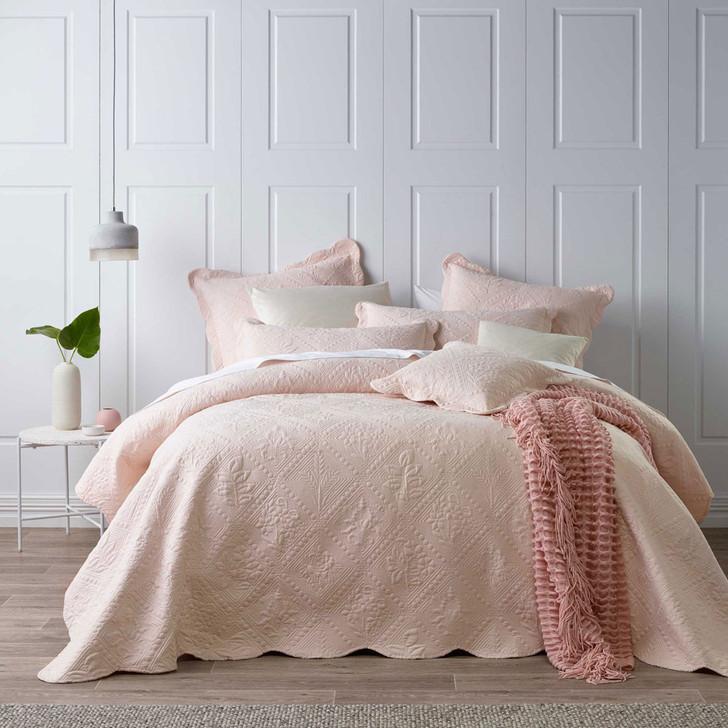 Bianca Lucinda Blush King Bed Bedspread Set | My Linen