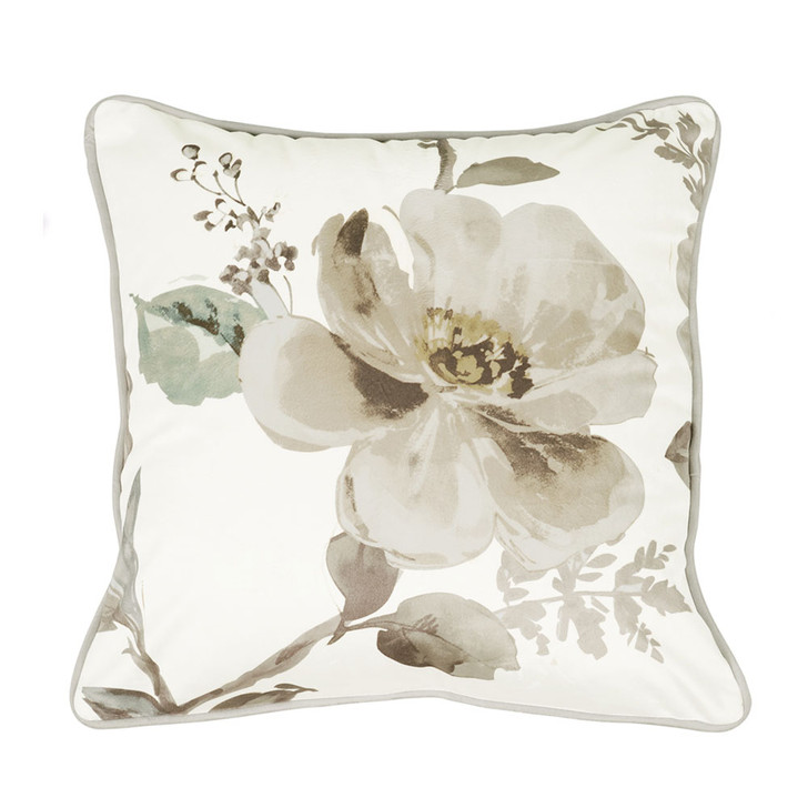 Bianca Kara Grey Square Filled Cushion | My Linen
