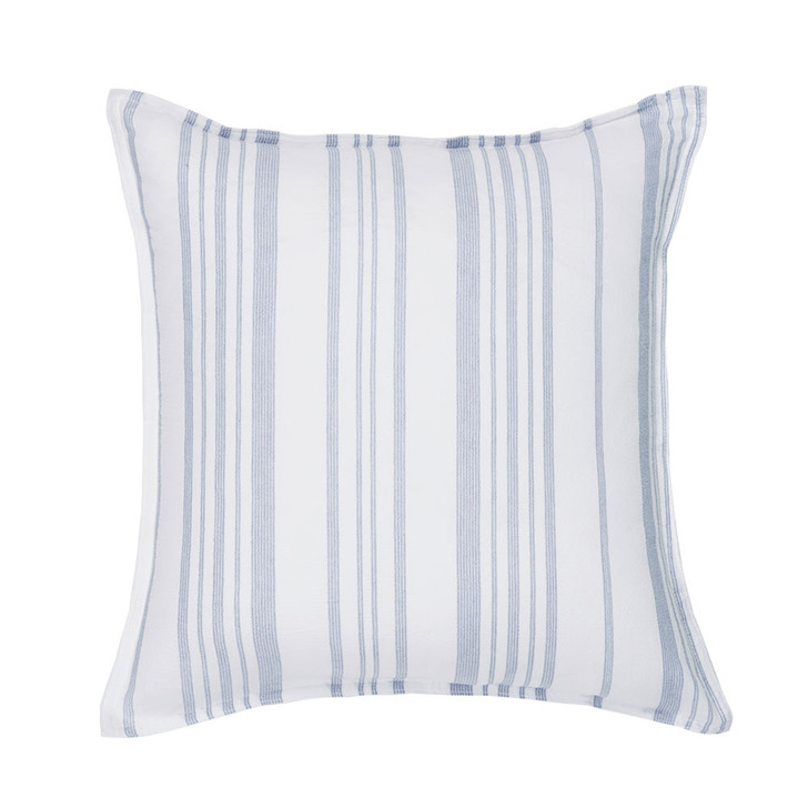 Bianca Cayman Blue Square Filled Cushion   My Linen