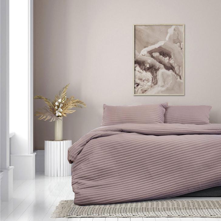 Ardor Boudoir London Bark Double Bed Quilt Cover Set   My Linen