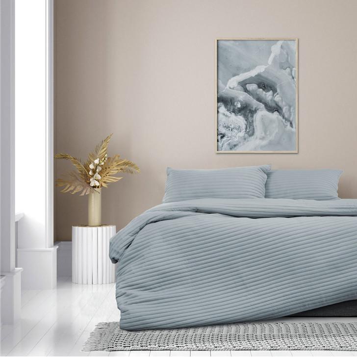 Ardor Boudoir London Denim Single Bed Quilt Cover Set   My Linen