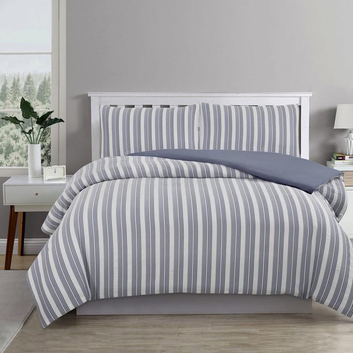 Ardor Boudoir Cove Chambray Queen Bed Quilt Cover Set | My Linen