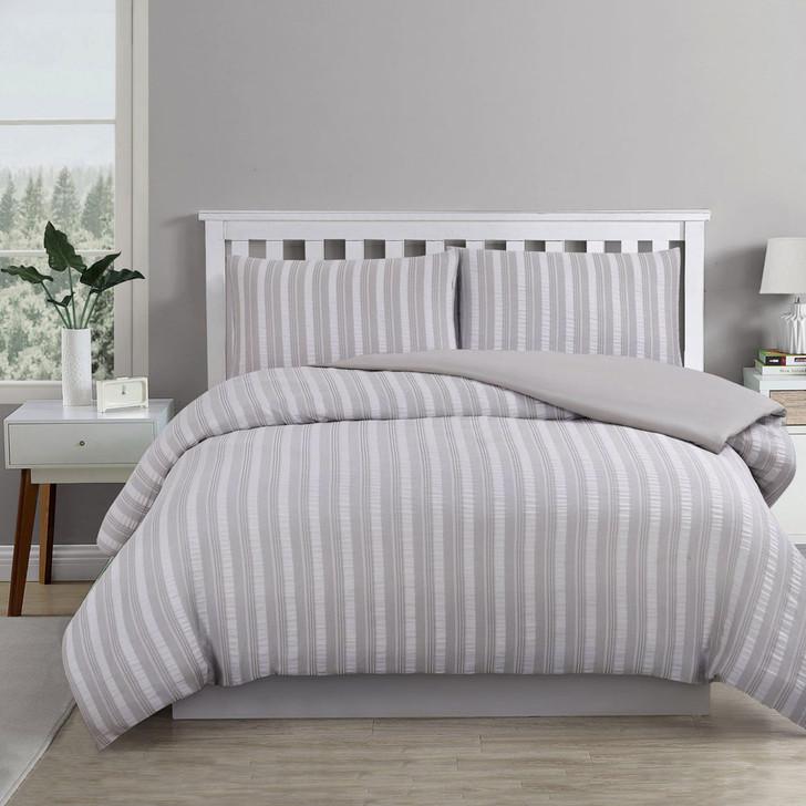 Ardor Boudoir Cove Coastal Grey Queen Bed Quilt Cover Set | My Linen