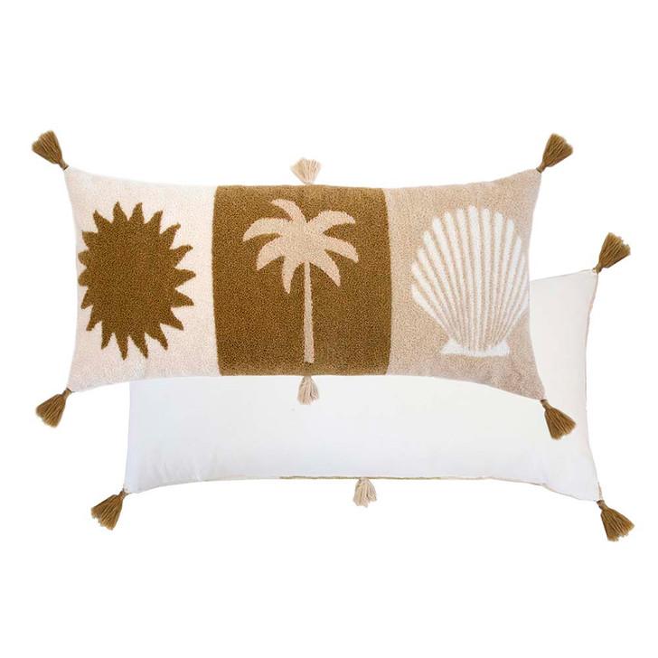 Bambury Sun Sand Sea Long Filled Cushion   My Linen