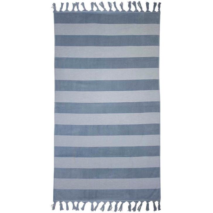 Bambury Marbella Steel Blue Beach Towel | My Linen
