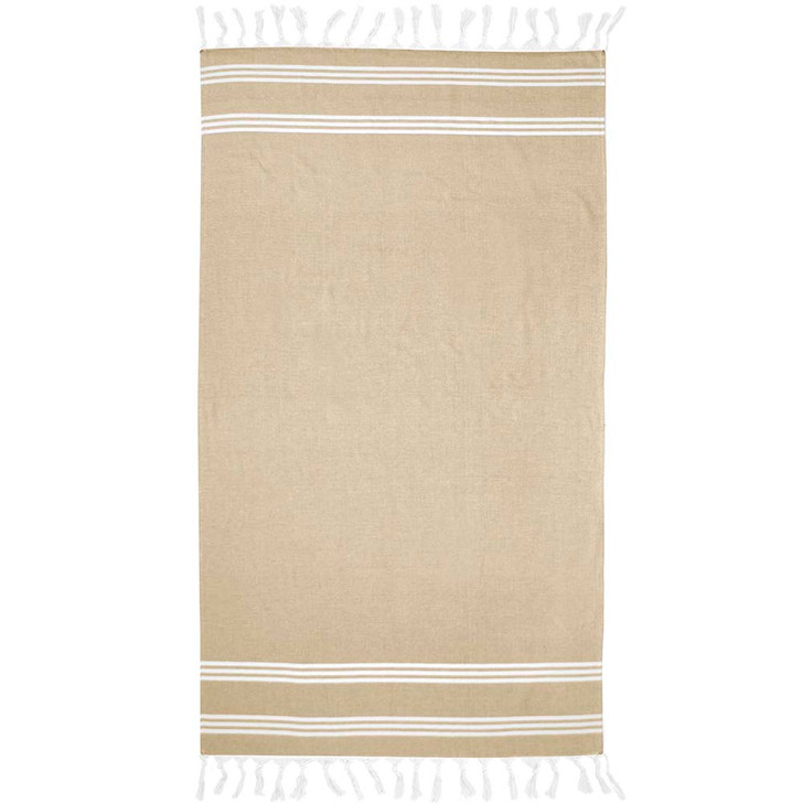 Bambury Amalfi Mustard Beach Towel | My Linen