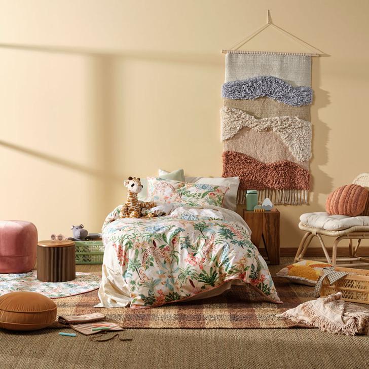Linen House Kids Gentle Giants Multi Queen Bed Quilt Cover Set | My Linen
