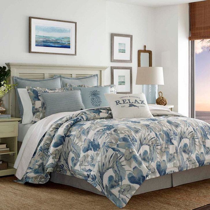 Tommy Bahama Raw Coast Blue Queen Bed Quilt Cover Set | My Linen