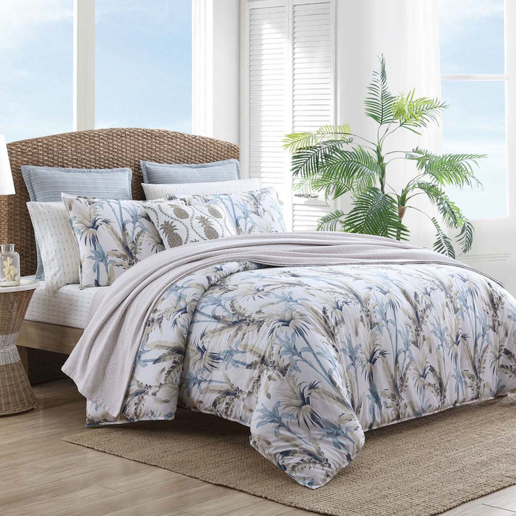 Tommy Bahama Catalina Silver Blue Super King Quilt Cover Set | My Linen
