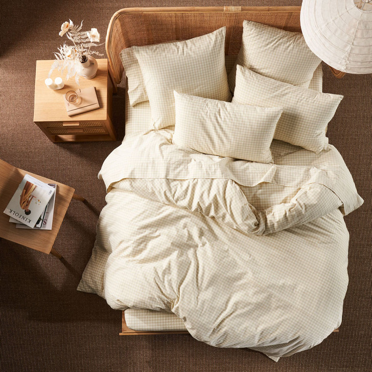 Linen House Springsteen Stone King Bed Quilt Cover Set | My Linen