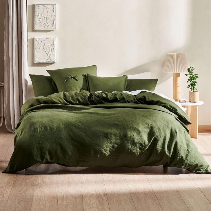 Linen House Nimes Fern King Bed Quilt Cover Set   My Linen