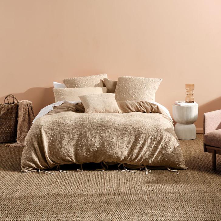 Linen House Abigail Sand King Bed Quilt Cover Set   My Linen