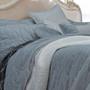 Macey and Moore Luxe Velvet Hampton Ice Blue Bedspread Set   My Linen