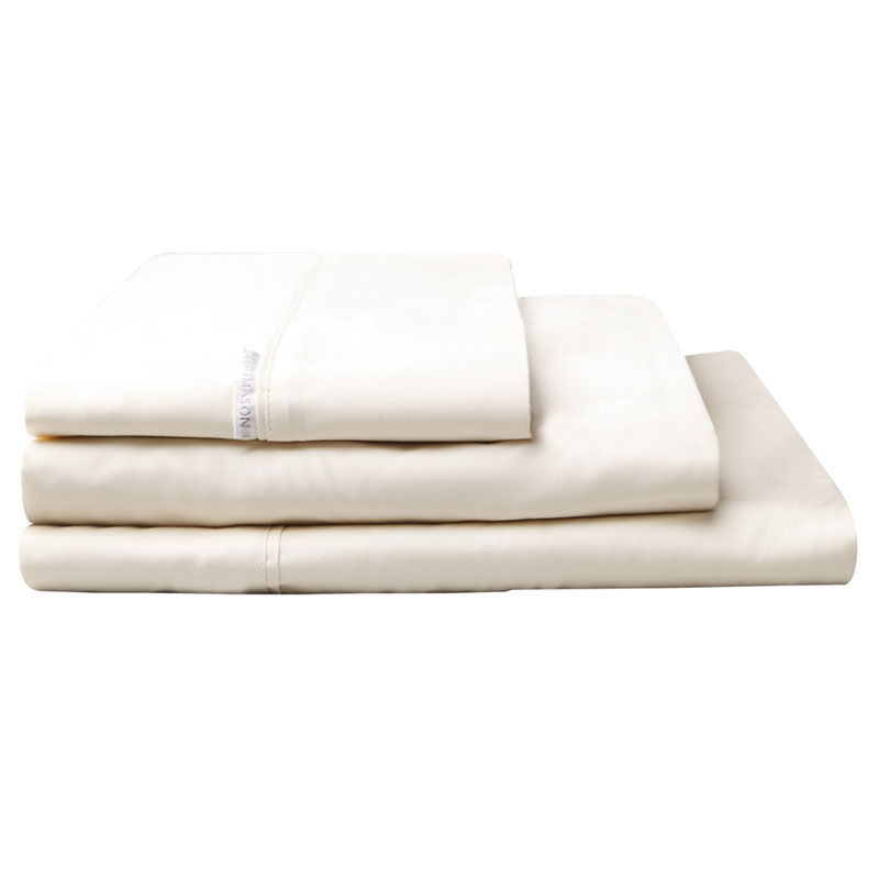 100 Egyptian Cotton Sateen Sheet Set 400tc Vanilla Split King Bed