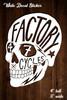 "Decal Window Skull Sticker White 3"" wide x 4"" Tall"