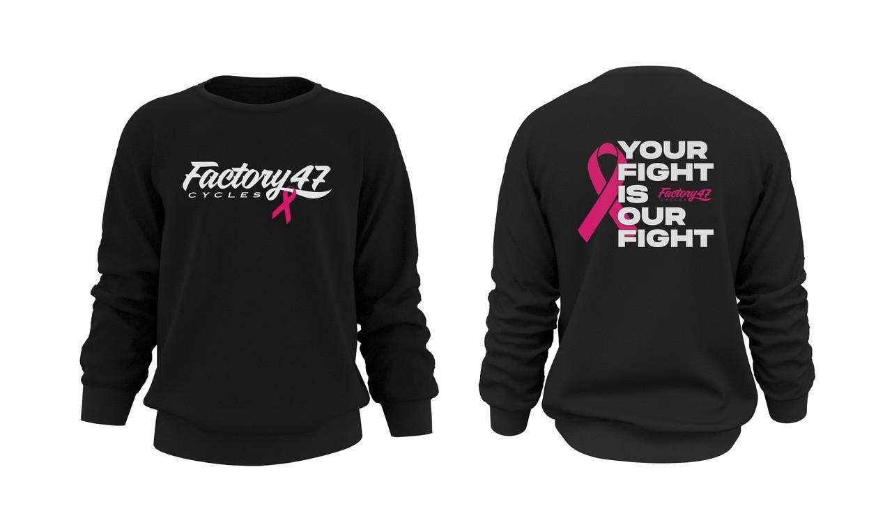 Cancer Awareness Crewneck Sweater