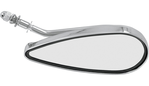 Teardrop Mirror Left Side Chrome