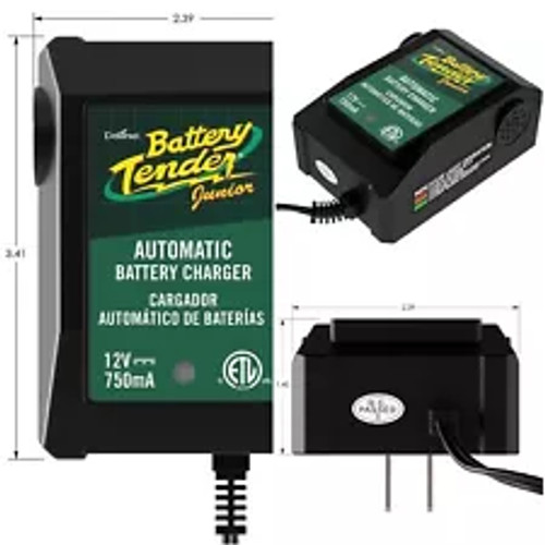 Battery Tender Junior 12V, 0.75A Battery Charger