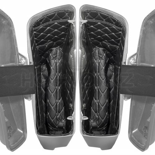 14-'21 Stretched Saddlebag Liners | Black w/ Silver Stitching HOGWORKZ®