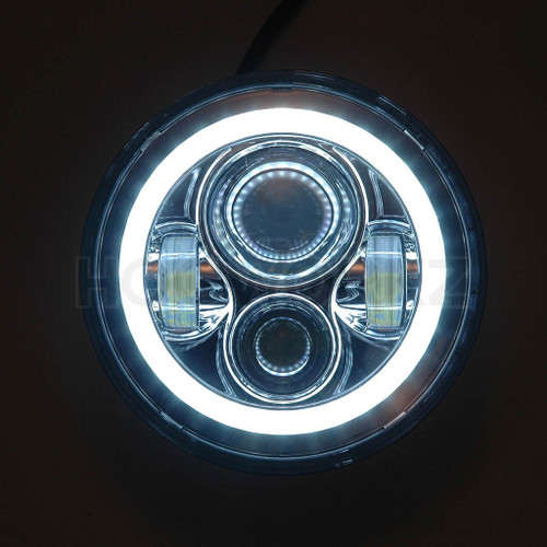 """7"""" LED Chrome HaloMaker Headlight (Harley Daymaker Replacement)"""
