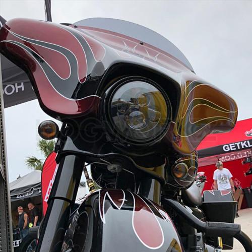 "Blackout 7"" LED Harley Daymaker Style Headlight"