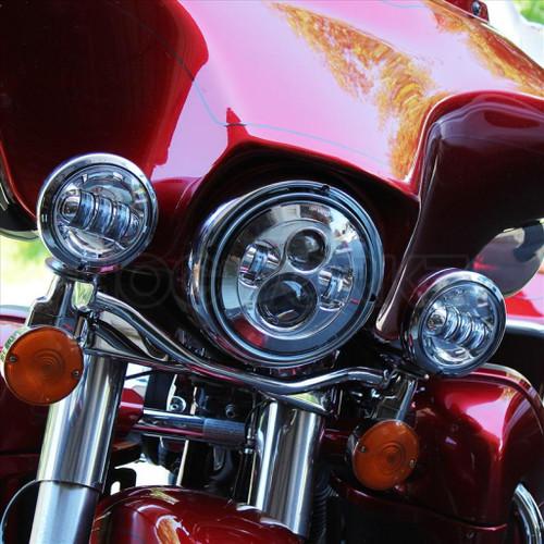 "Chrome 7"" LED Harley Daymaker Style Headlight"