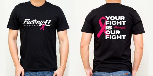 Cancer Awareness T-Shirt Black 47