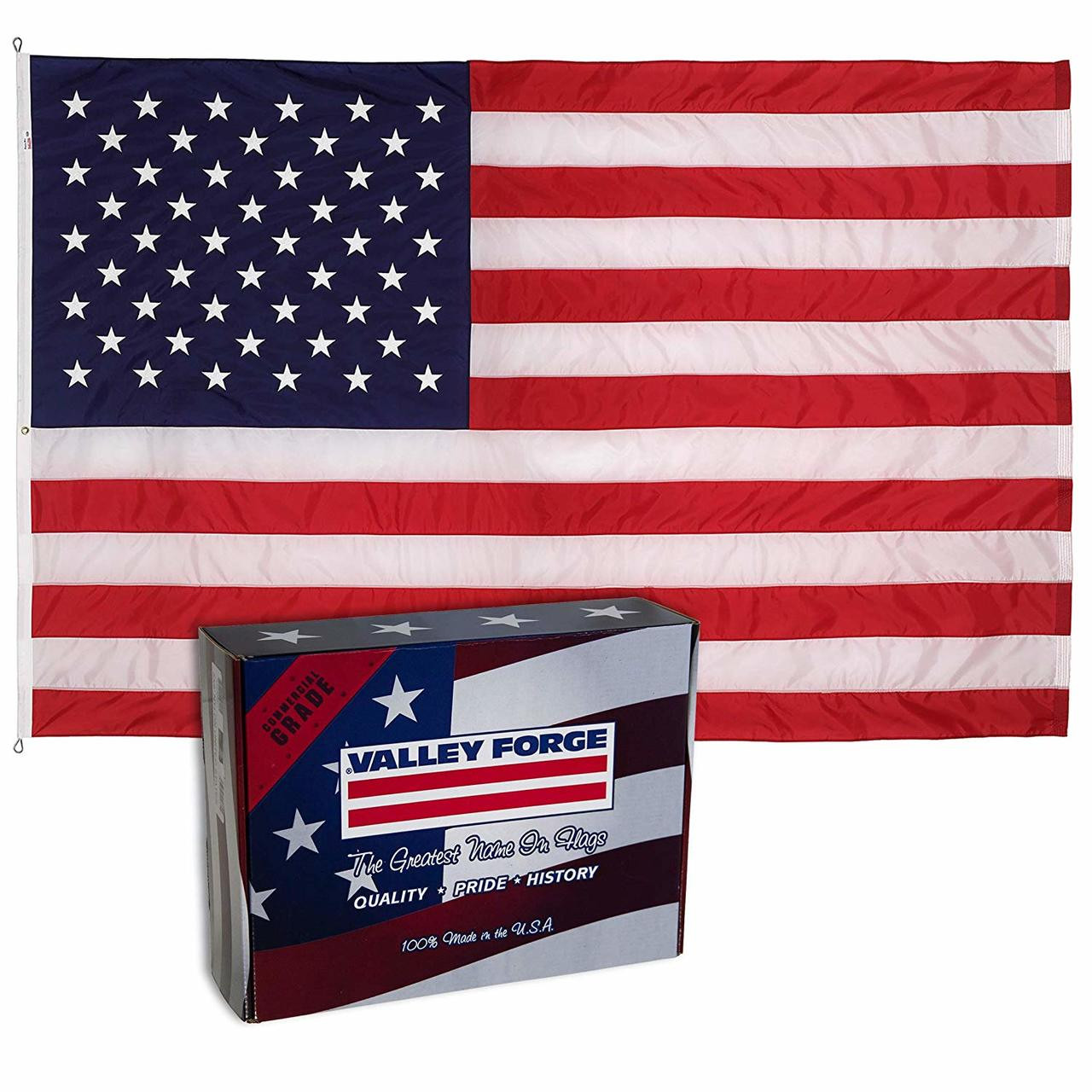 c6470616 Valley Forge Perma-Nylon U.S.A. Flag with box
