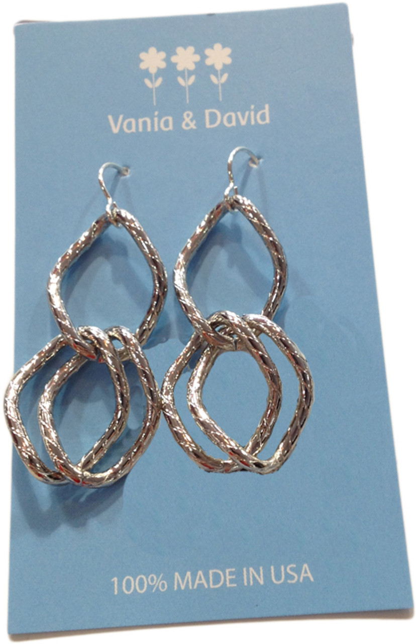 6a29cef46 Simple Link Twisted Earrings - Made In America Store