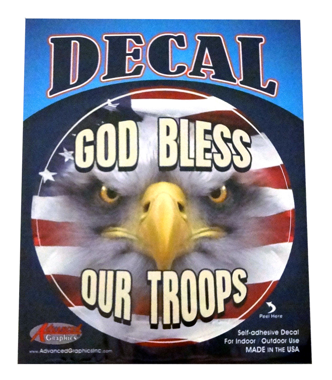 God Bless Our Troops Decal Sticker