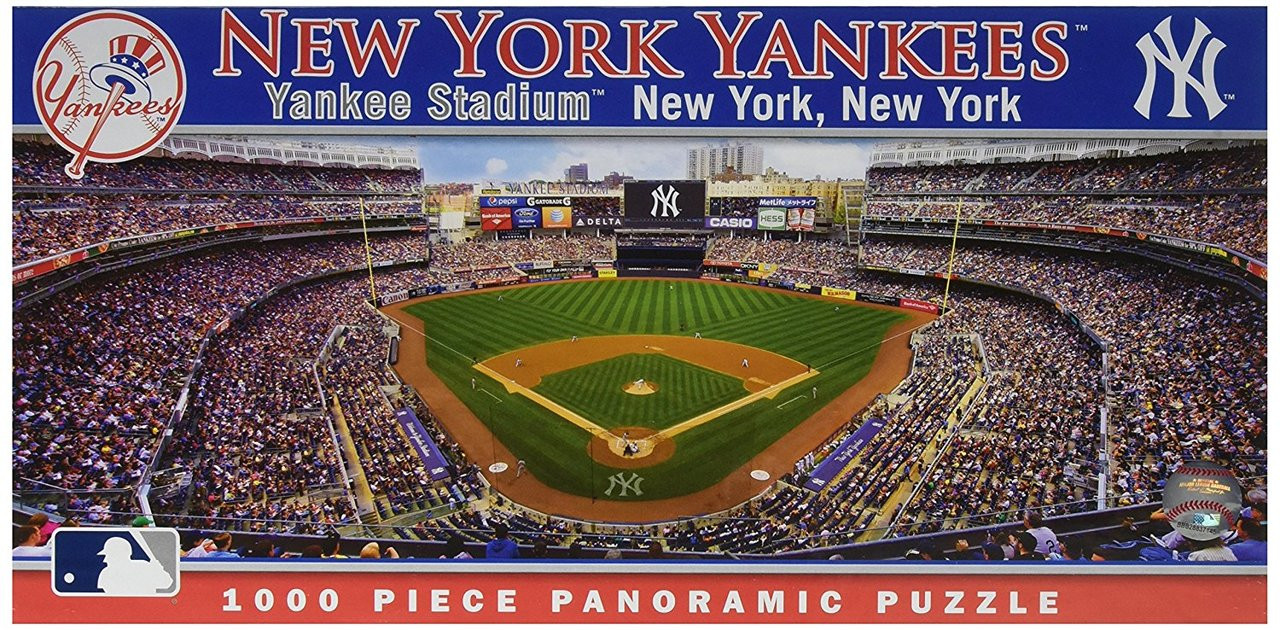ec0983c0 MLB NY Yankees Panoramic Puzzle (1000 pcs.) - Made In America Store