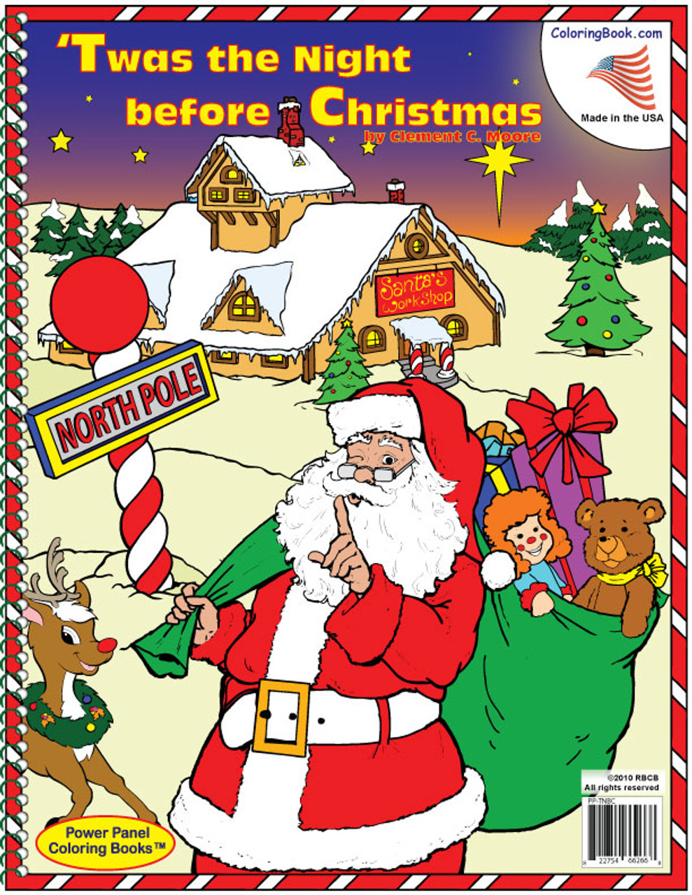Twas the Night Before Christmas Coloring Book