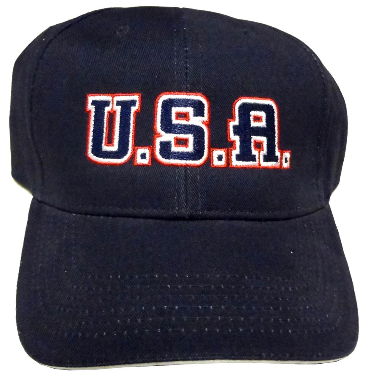 U.S.A. Embroidered Baseball Cap - Made In America Store 7db2fedce35f