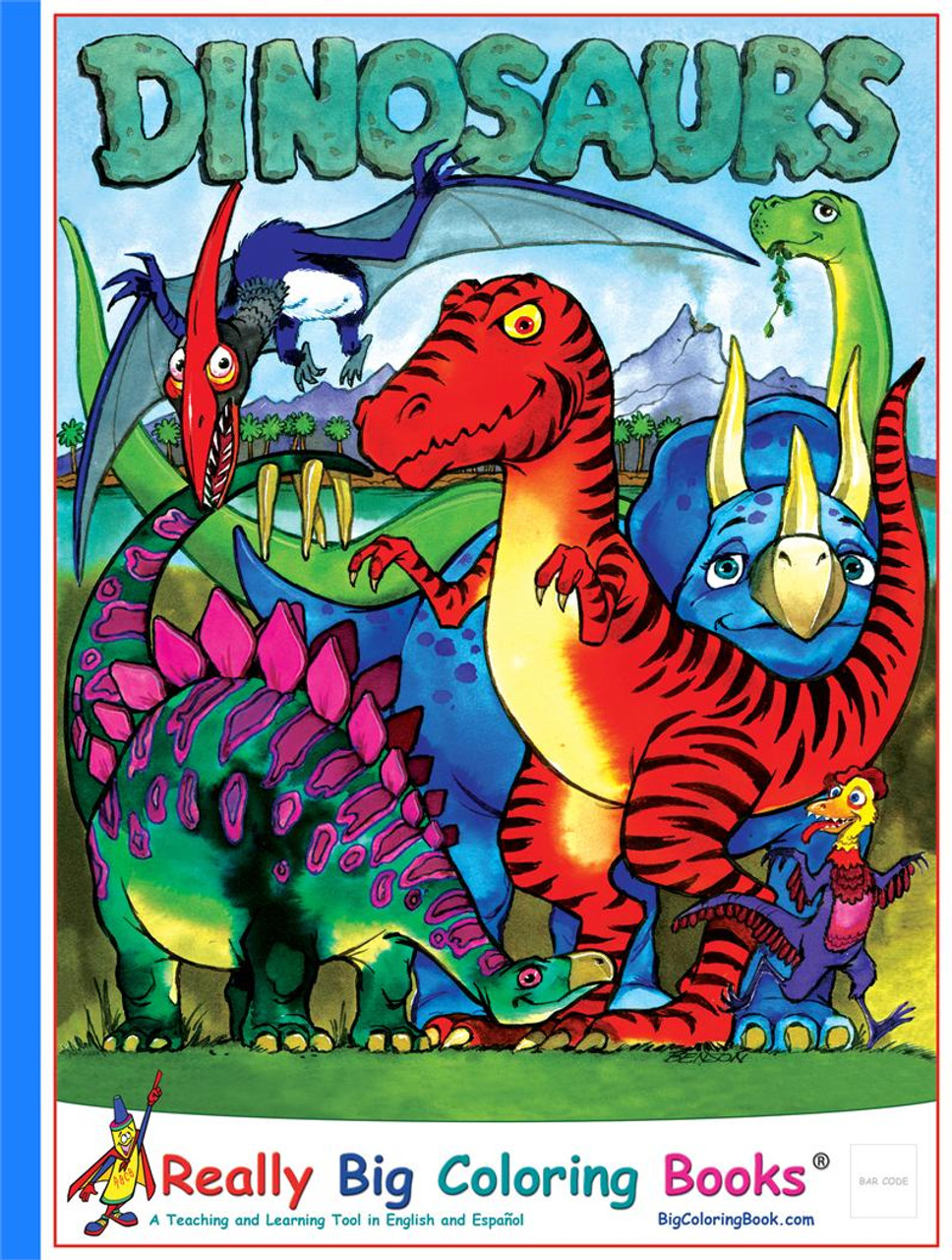 Dinosaurs Giant Coloring Book - Made In America Store