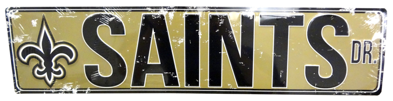 5f1754d8 NFL® Metal Street Sign - New Orleans Saints (23.5
