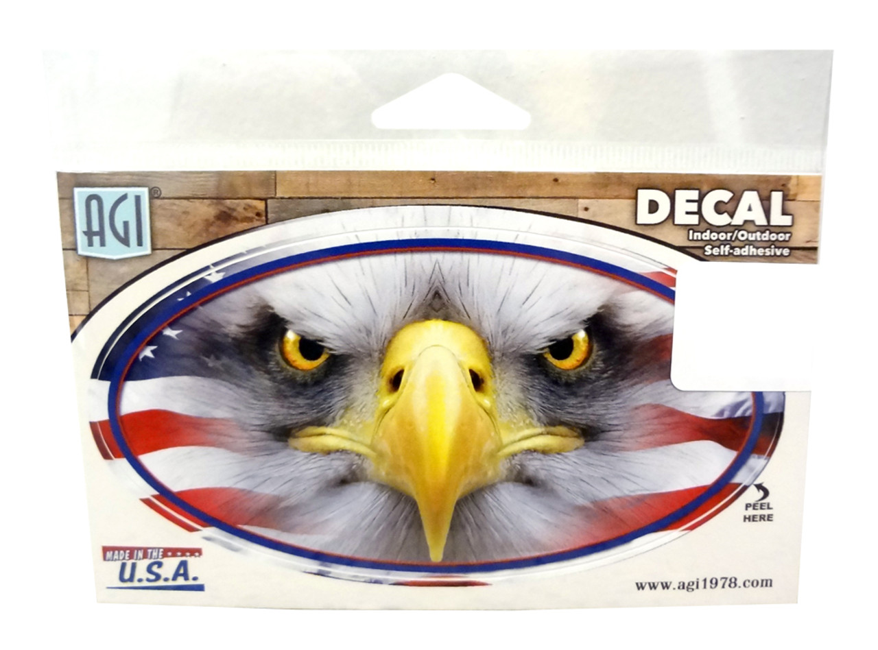 American Flag With Bald Eagle Decal Made In America Store