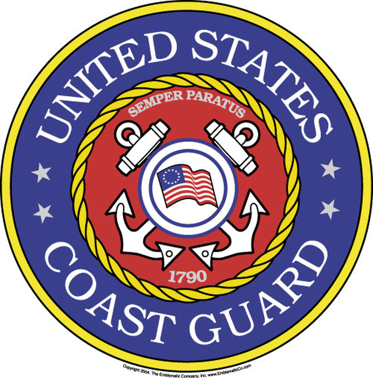 U S Coast Guard Emblem Magnet 12 2 Pack