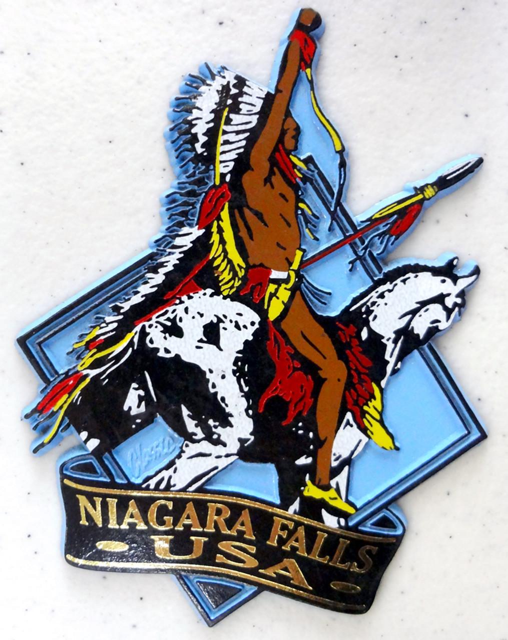 Niagara Falls Native American on Horse Magnet