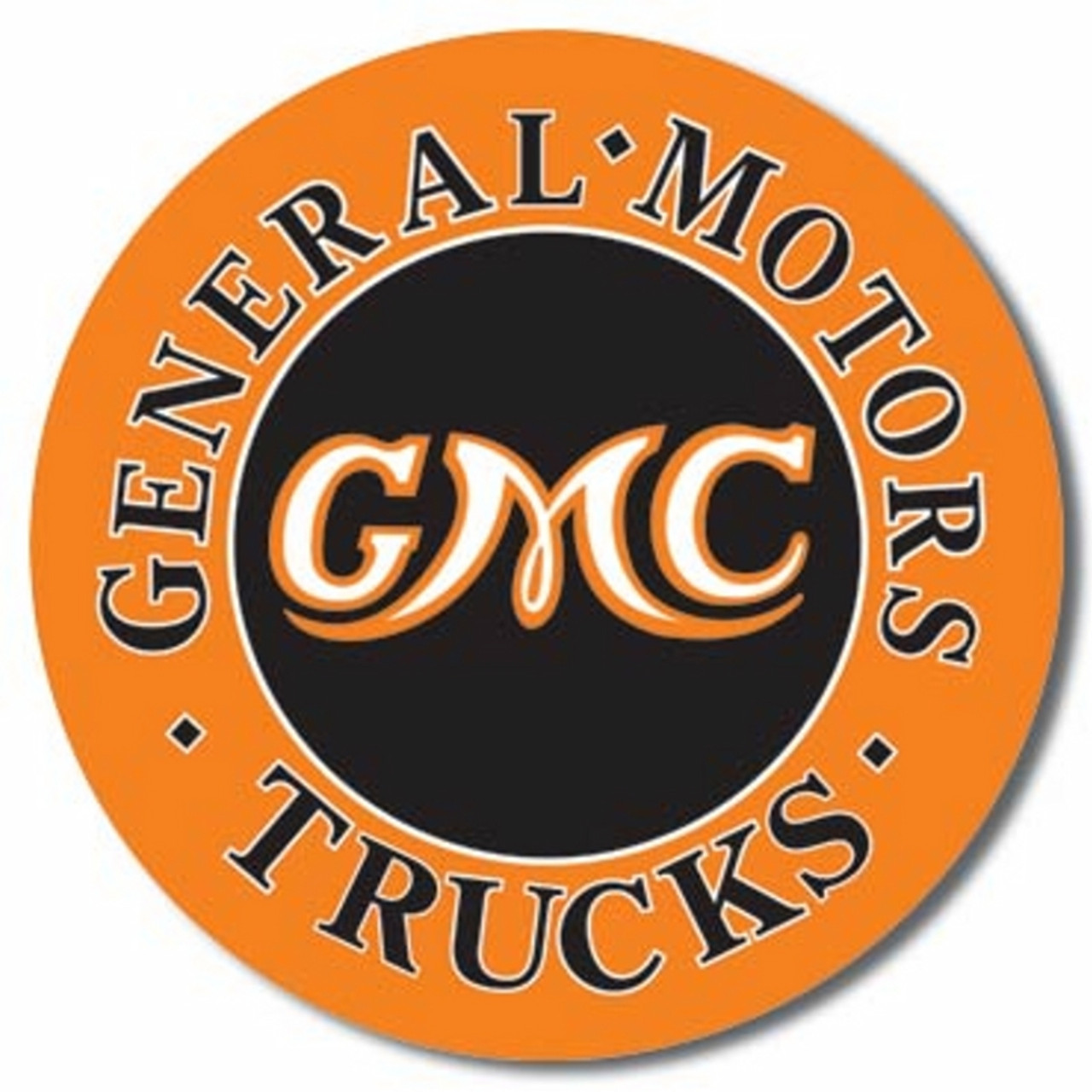 GMC Trucks Round Tin Sign (11 75