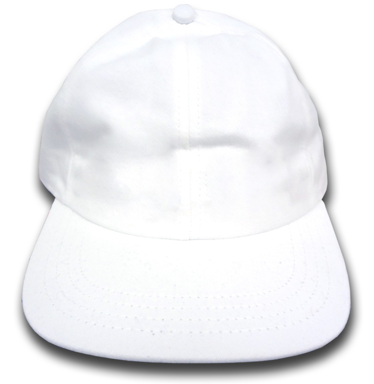 los angeles 17b76 79948 Plain 6 Panel Unstructured Baseball Cap (White)