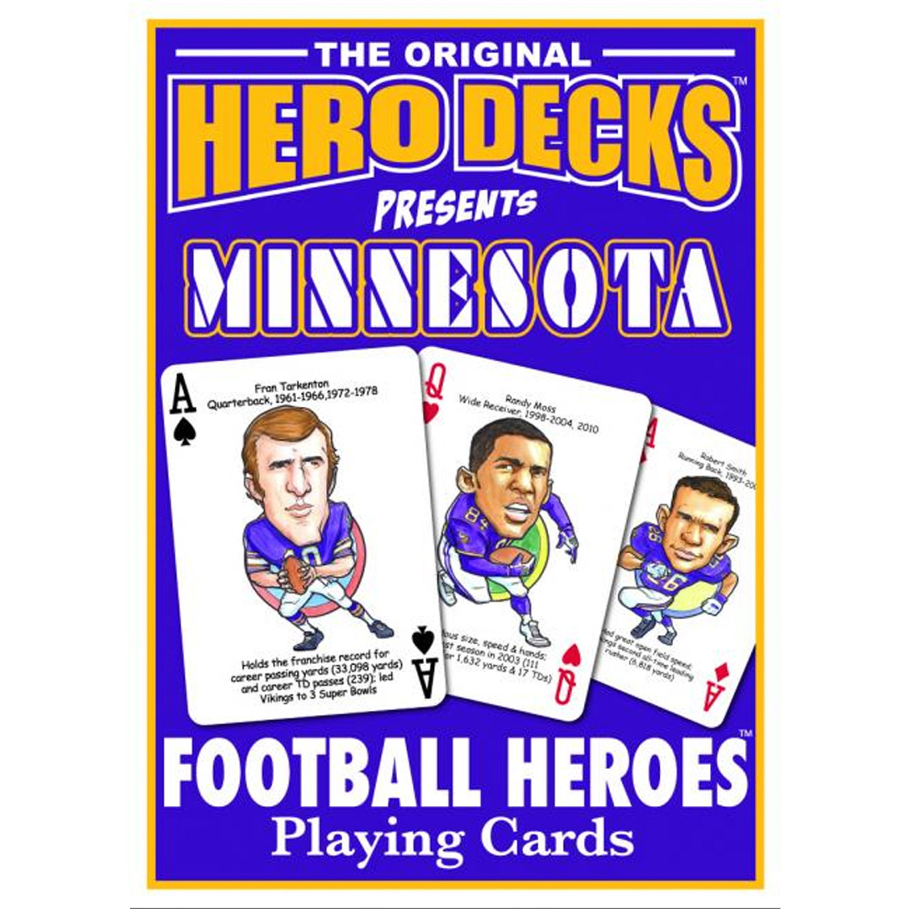 MINNESOTA VIKINGS PLAYING CARDS DECK NEW